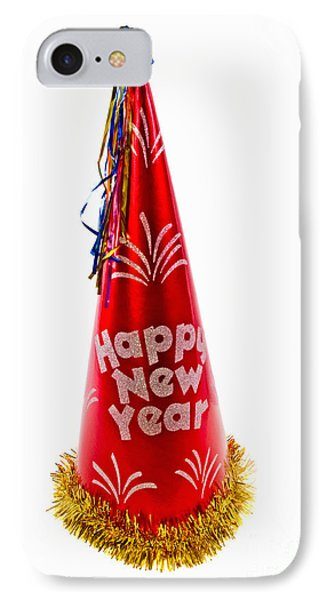 Happy New Year Party Hat IPhone Case by Vizual Studio