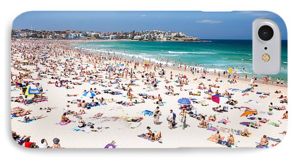 New Year's Day At Bondi Beach Sydney Australi IPhone 7 Case by Matteo Colombo