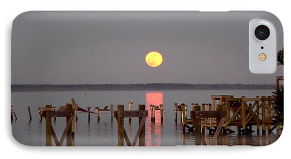 New Years Eve Blue Moon On The Bay IPhone Case