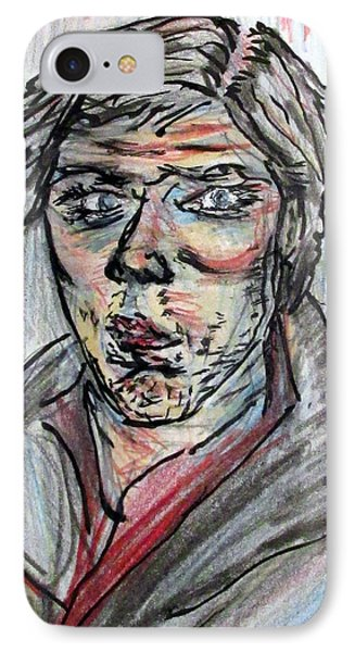 New Years Self Portrait IPhone Case by Denny Morreale
