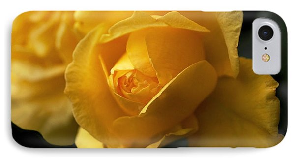 New Yellow Rose Phone Case by Rona Black