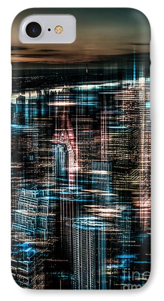 New York - The Night Awakes - Dark Phone Case by Hannes Cmarits