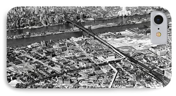 New York 1937 Aerial View  Phone Case by Underwood Archives