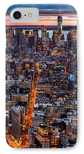 New York Aerial Cityscape Phone Case by Mihai Andritoiu