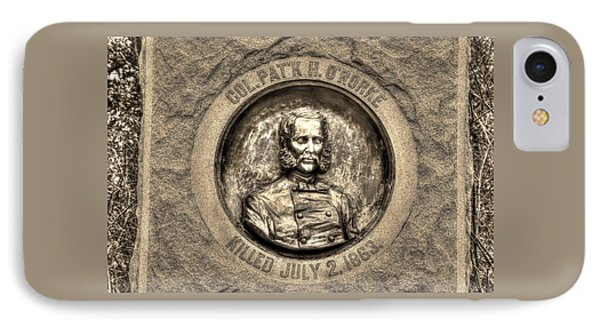 New York At Gettysburg - 140th Ny Volunteer Infantry Little Round Top Colonel Patrick O' Rorke IPhone Case by Michael Mazaika