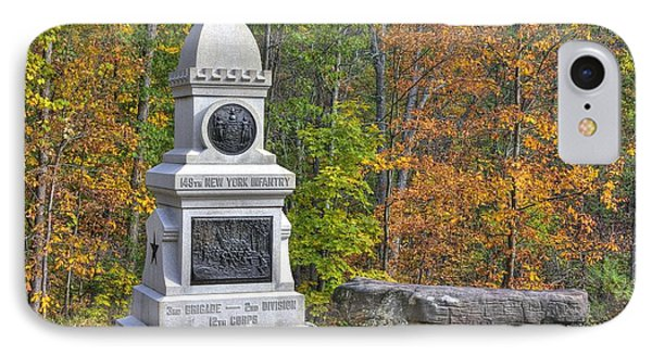 New York At Gettysburg - 149th Ny Infantry Autumn Mid-afternoon Culp's Hill Phone Case by Michael Mazaika