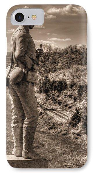 New York At Gettysburg - 84th Ny Vol Infantry 14th Brooklyn Regiment Red Legged Devils Railroad Cut Phone Case by Michael Mazaika
