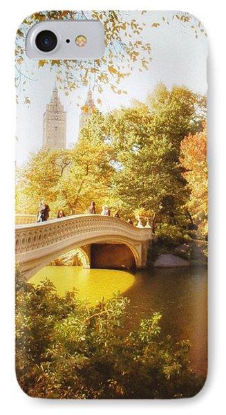 New York Autumn - Central Park - Bow Bridge IPhone Case