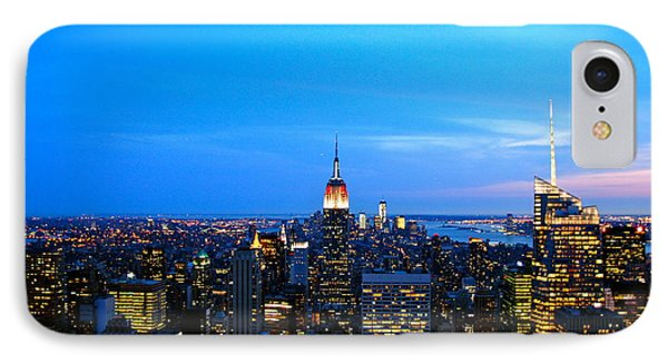 New York By Night Phone Case by Eric Dewar