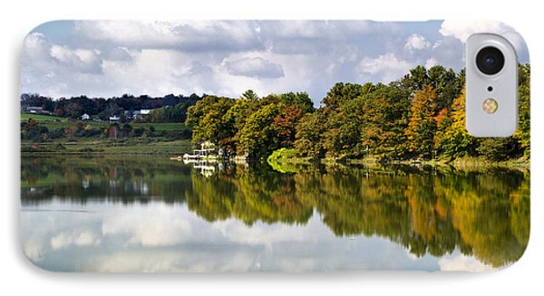 IPhone Case featuring the photograph New York Cincinnatus Lake by Christina Rollo