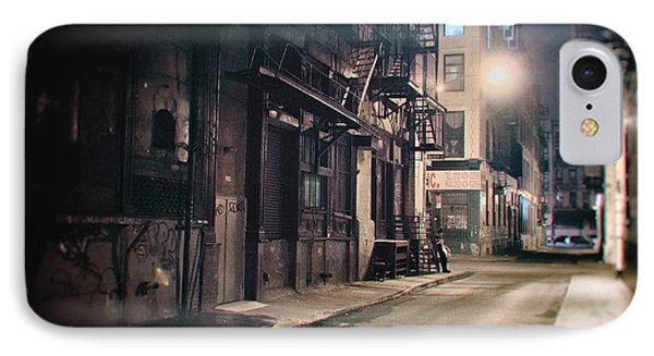 New York City Alley At Night IPhone Case by Vivienne Gucwa