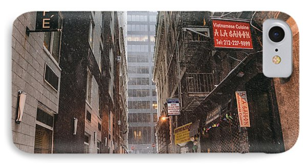New York City Alley In The Snow IPhone Case by Vivienne Gucwa