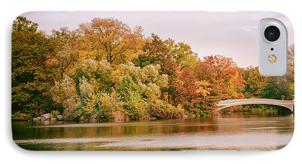 New York City - Autumn - Central Park - Lake And Bow Bridge IPhone Case by Vivienne Gucwa