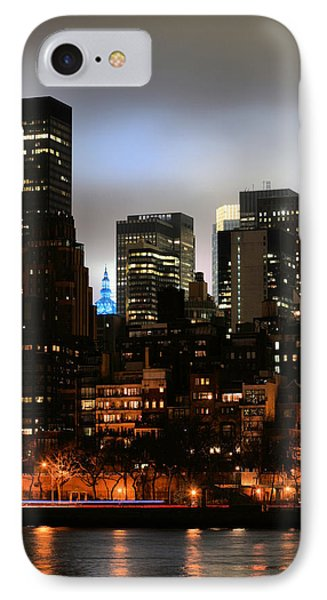 New York City Blue Phone Case by JC Findley
