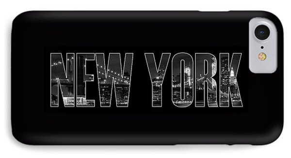 New York City Brooklyn Bridge Bw IPhone Case by Melanie Viola