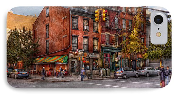 New York - City - Corner Of One Way And This Way Phone Case by Mike Savad