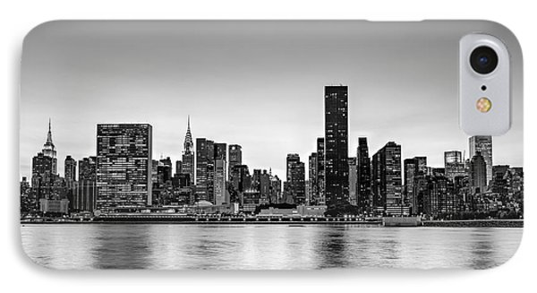 New York City Dusk Colors Bw IPhone Case by Susan Candelario