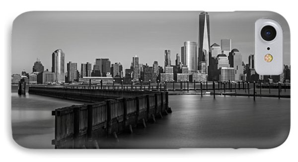 New York City Financial District Bw IPhone Case by Susan Candelario