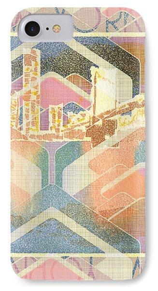 New York City In Pastel Tones - Manhattan Bridge IPhone Case