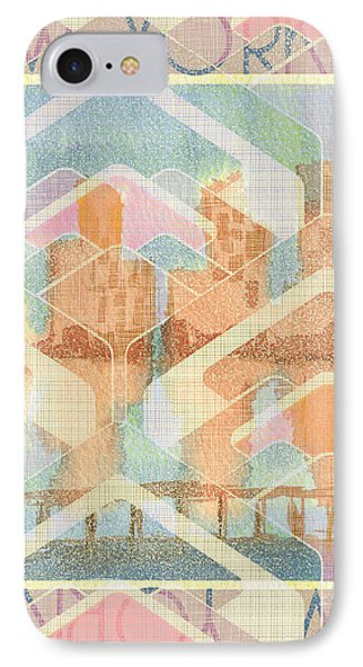 New York City In Pastel Tones - View From Brooklyn IPhone Case