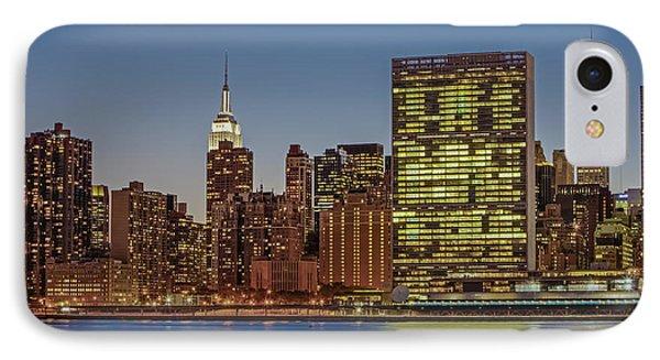 New York City Landmarks IPhone Case by Susan Candelario