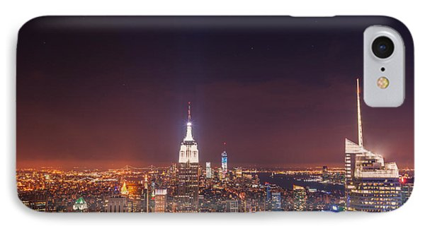 New York City Lights At Night Phone Case by Vivienne Gucwa