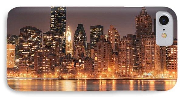 New York City Lights - Skyline At Night Phone Case by Vivienne Gucwa