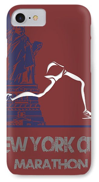 New York City Marathon IPhone Case by Joe Hamilton