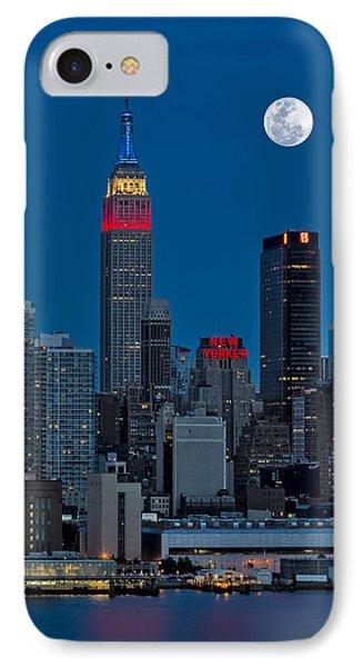 New York City Moonrise  Phone Case by Susan Candelario