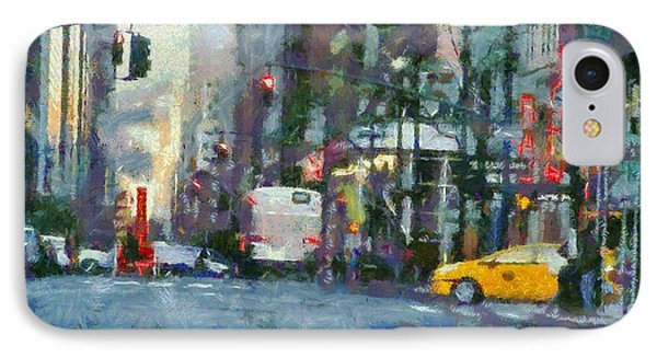 New York City Morning In The Street Phone Case by Dan Sproul