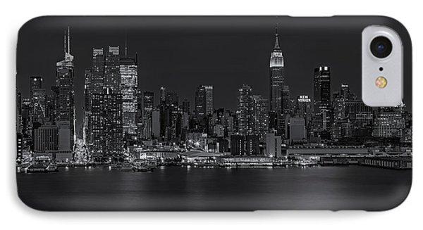 New York City Night Lights Phone Case by Susan Candelario