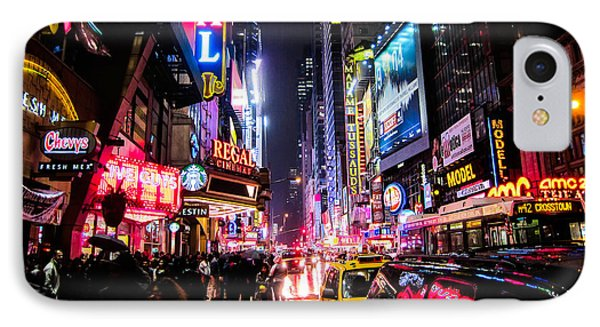 New York City Night IPhone 7 Case by Nicklas Gustafsson