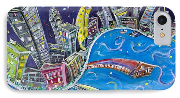 New York City Nights IPhone Case by Jason Gluskin