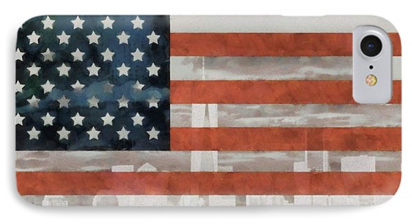 New York City On American Flag IPhone Case