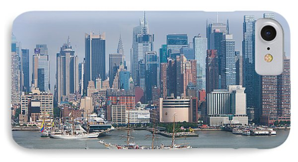 New York City Parade Of Sail I Phone Case by Clarence Holmes