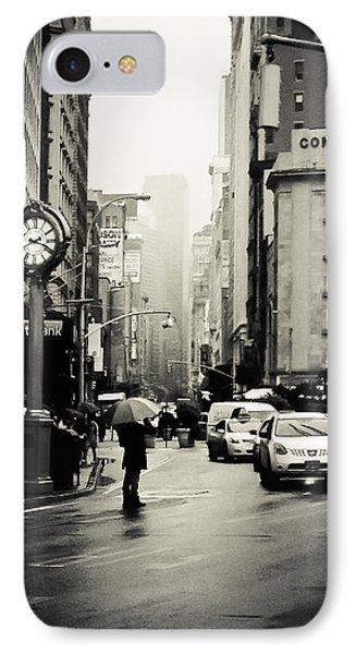 New York City - Rain - 5th Avenue IPhone Case by Vivienne Gucwa