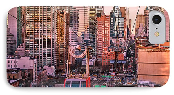 New York City - Skycrapers And The Roosevelt Island Tram Phone Case by Vivienne Gucwa