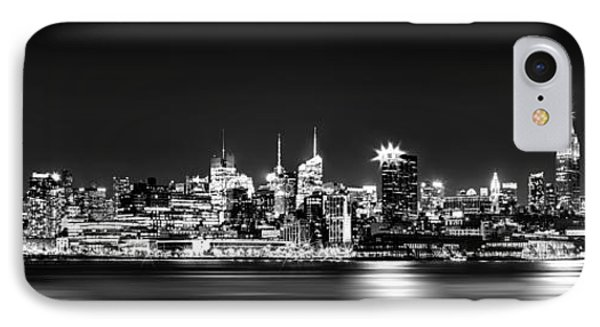 New York City Skyline - Bw IPhone Case by Az Jackson
