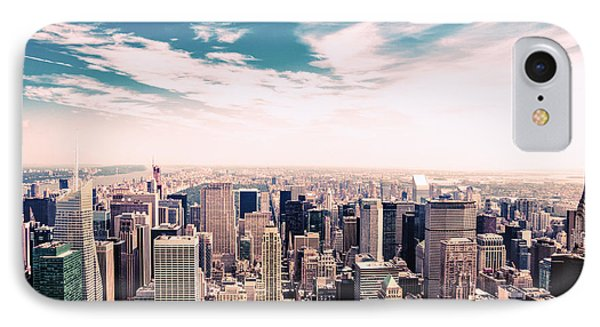 New York City - Skyline And Central Park IPhone Case