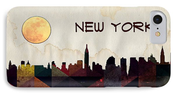 New York City Skyline IPhone Case by Celestial Images