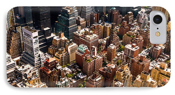 New York City Skyline From Above IPhone Case by Vivienne Gucwa
