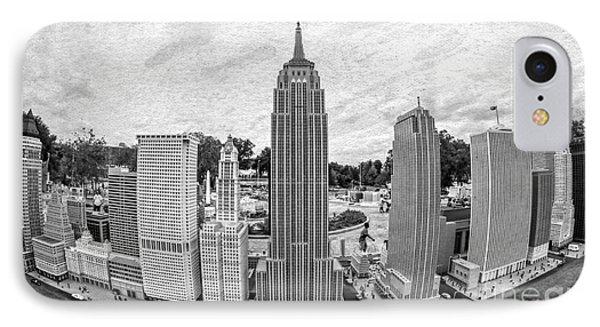 New York City Skyline - Lego Phone Case by Edward Fielding