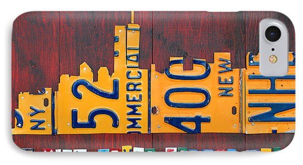 New York City Skyline License Plate Art 911 Twin Towers Statue Of Liberty IPhone Case