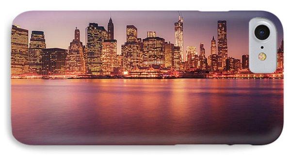 New York City Skyline - Night Lights IPhone Case by Vivienne Gucwa