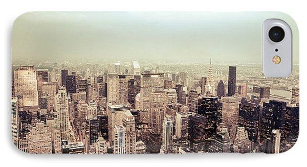 New York City - Skyline On A Hazy Evening IPhone Case by Vivienne Gucwa