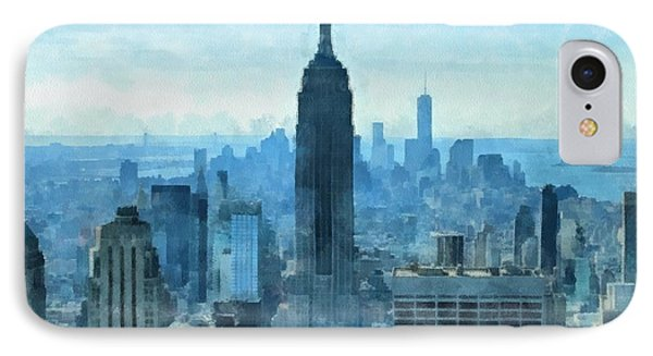 New York City Skyline Summer Day IPhone Case by Dan Sproul
