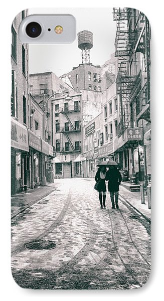 New York City - Snow On A Winter Afternoon - Chinatown IPhone Case by Vivienne Gucwa