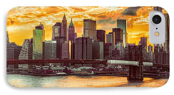 New York City Summer Panorama Phone Case by Chris Lord