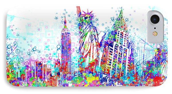 New York City Tribute 3 IPhone Case by Bekim Art