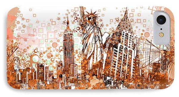 New York City Tribute 4 IPhone Case by Bekim Art